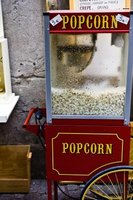 cleaning a popcorn machine
