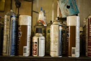 Spray paint can be easily removed from wood.