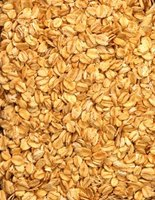 Rolled oats are high in iron and dietary fiber.