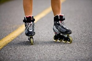 Rollerblading is a great way to exercise while enjoying the outdoors.