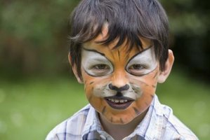 Face paints can be mixed on the spot or stored in homemade combinations for multiple uses.