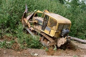 The dozer is made for clearing any type of land.