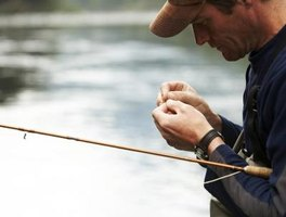 The blood knot is used to tie two fishing lines together.
