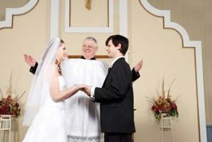 A wedding minister can officiate a wedding.