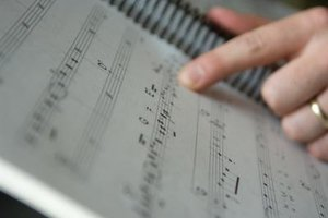 Reading music involves learning to recognize the different kinds of notes.