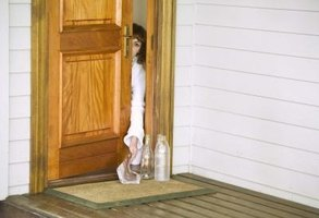 Keep door thresholds in good condition to protect your home from damage.
