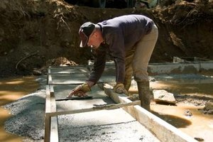 Concrete mix hardens to its permanent strength and finish after a period of around 18 days.