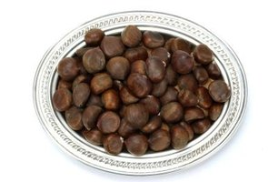 Roasted chestnuts are a special treat.