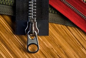 Zippers are fairly simple to repair.