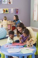 Full-time preschool teachers in daycare centers earn about $2,000 monthly.
