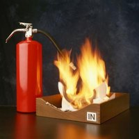 Use a water extinguisher on a paper or wood fire.