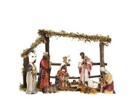 Create a permanent location for your indoor nativity set.