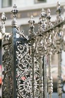 Ornate wrought iron is typically the costliest fencing material.