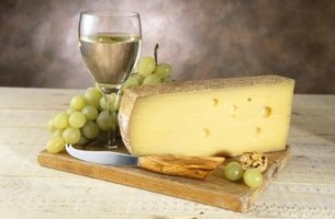 Wine and cheese are a great combination.