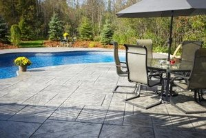 Stamped concrete can give your patio style.