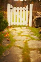 Stepping-stones create interesting paths to flower gardens, gazebos or gates.