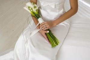 Calla lilies are a beautiful focus of a wedding bouquet.