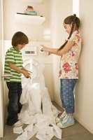 Some children are enthralled with stuffing the toilet with paper or toys.
