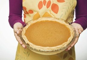 Use fresh pumpkin to make a tasty pie.