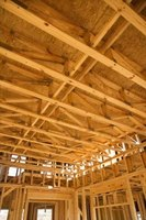 Ceiling joists are part of the framework of a house or building.