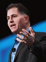 Dell is named for its founder and CEO Michael Dell.