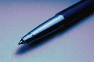 Most common pens are not well suited for use on a photograph.