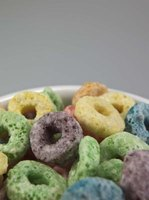 Foods like processed sweetened cereal can cause a sugar rush.