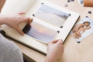 Organize photographs before storing them in the attic.