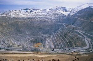 Open pit mines have far-reaching environmental impacts.