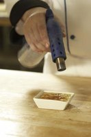 A culinary torch can lightly burn or melt the top of desserts such as creme brulee.