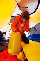 Well-packed sleeping bags travel more easily