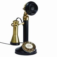 The candlestick telephone was one of the first desktop styles.