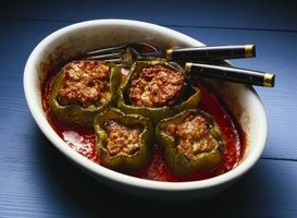 The proper way of eating stuffed peppers is a matter of personal preference.
