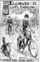 Fashions in 1895 were adapted for new activities like bicycling.
