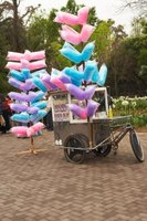 Selling cotton candy is profitable if marked up sufficiently.