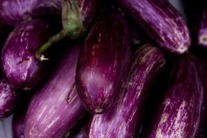 Roasted eggplant results in a smoothly textured vegetable.