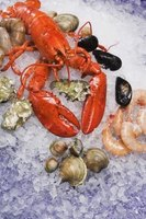 Mussels, clams and oysters are a nice garnish for a baked lobster.