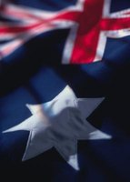 The union jack and Southern Cross make up the Australian flag.