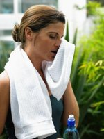 Excessive sweating causes heat rash.