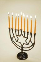Jews light menorahs during the eight days of Hanukkah.