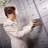 Be careful when retrieving your safe deposit box.