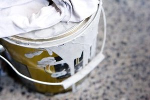 Any can with paint inside cannot be recycled.