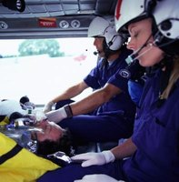 Flight paramedics provide in-flight emergency medical care.
