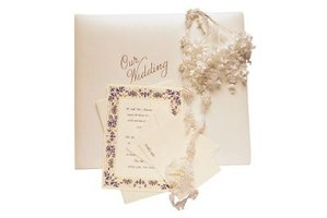A wedding invitation typically contains more information than a save-the-date card.