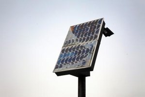 Solar panels harvest the light from the sun, a renewable resource.