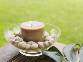 Most mosquito-blocking candles contain a blend of essential oils, such as peppermint, lemongrass, rosemary and catnip.