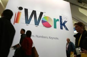The iWork CD installs three productivity programs in one easy step.