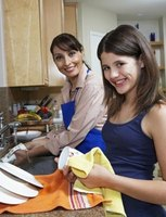 A tea towel is the English term for a dish towel.