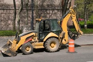 A backhoe can be rented to help this project go faster.