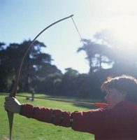 Instinctive archers use no sighting apparatus.